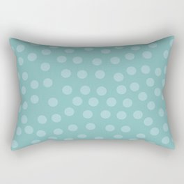Self-love dots - Turquoise Rectangular Pillow