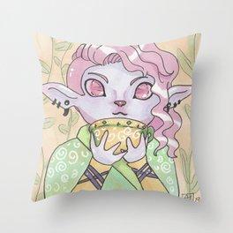 Caduceus Chibi Throw Pillow