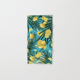 Summer Lemon Twist Jungle #4 #tropical #decor #art #society6 Hand & Bath Towel