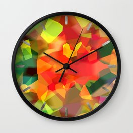 Abstract Polygon Forest Wall Clock