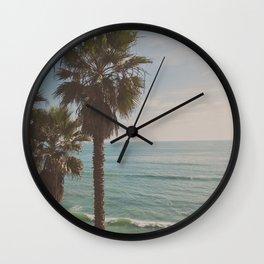 palm tree and ocean. California Vacation Wall Clock
