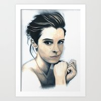 emma watson Art Prints featuring Emma Watson by A.LynnArt