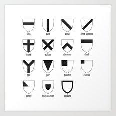 Heraldry Art Print