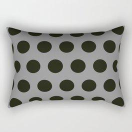 Medium Black Dots on Gray Rectangular Pillow