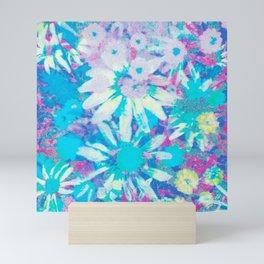 far out! floral tie dye Mini Art Print