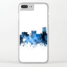 Durham England Skyline Cityscape Clear iPhone Case