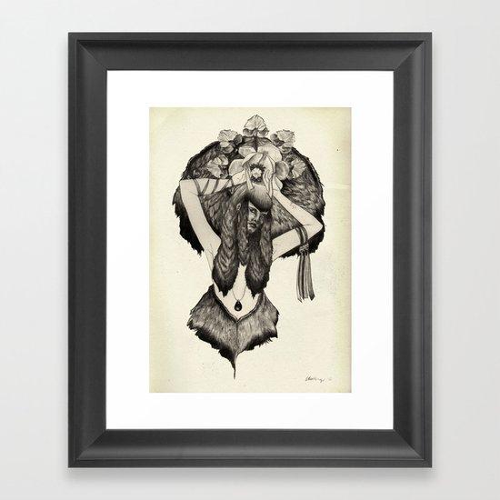 Capricorn - Black and White Framed Art Print