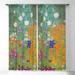Gustav Klimt - Flower Garden Blackout Curtain