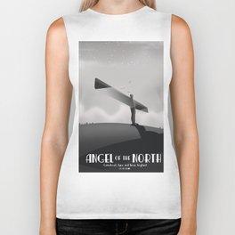 Angel of the North,Gateshead, Tyne and Wear, England black and white. Biker Tank