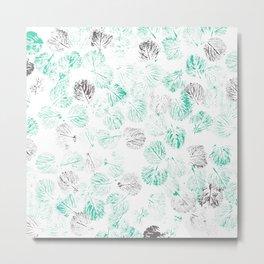 Turquoise foliage Metal Print