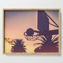 basketball hoop 1 Serving Tray