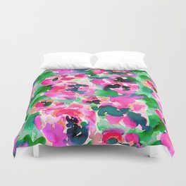 Abstract Flora Green Duvet Cover