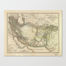 Map of Persia circa 1847 (Afghanistan, Pakistan, Iran) Canvas Print
