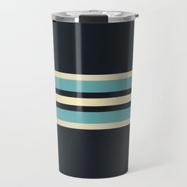 Fusahide - Classic 70s Retro Stripes Travel Mug