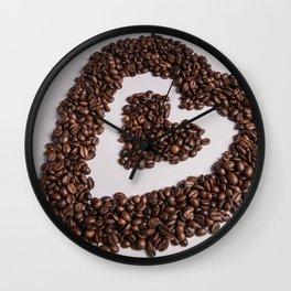 coffee heart #society6 #decor #buyart Wall Clock