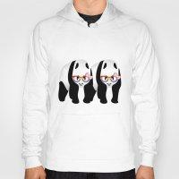 lesbian Hoodies featuring Lesbian  Gay Pride Pandas by mailboxdisco