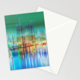 Amsterdam Habor by night Stationery Cards