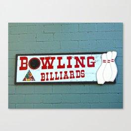 bowling n billiards  Canvas Print