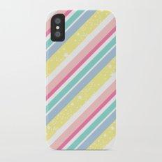 Party stripes iPhone X Slim Case