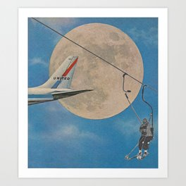 Sky High - collage Art Print
