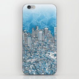 boston city skyline iPhone Skin