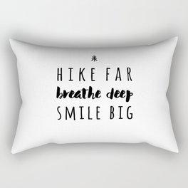 Hike Far Rectangular Pillow