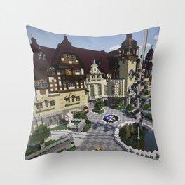 OverCast Peles Castle Throw Pillow