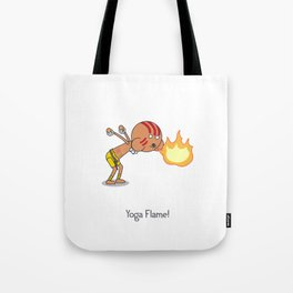Yoga Flame! Tote Bag