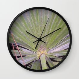 Saw Palmetto Abstract Wall Clock