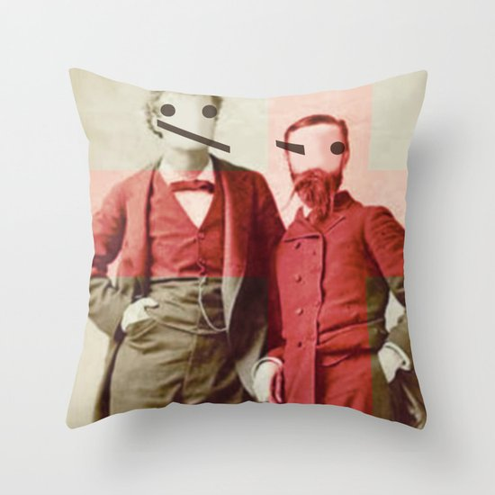 the backslash brothers Throw Pillow