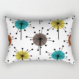 Atomic Era Sputnik Starburst Flowers Rectangular Pillow