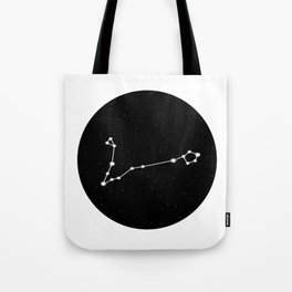 Pisces Star Sign Night Sky Circle Tote Bag