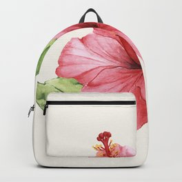 Tropical Pink Hibiscus Flower Backpack