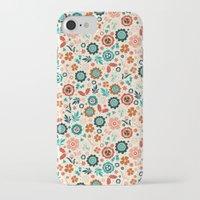 folk iPhone & iPod Cases featuring Folk Flowers by Anna Deegan
