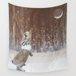 Winter Bunny Wall Tapestry