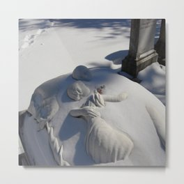Essendo Morti - Brother and Sister Tomb - Swan Point Cemetery - by Jeanpaul Ferro Metal Print