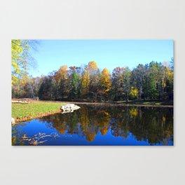 Along the Lakeside Canvas Print