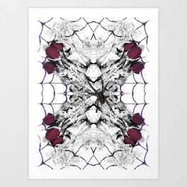 Roses Black Widow Art Print