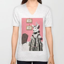 Deer Lady  Unisex V-Neck