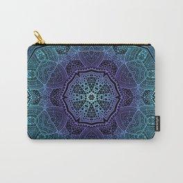 Oriental Mandala of Spirituality Night Winter Flower Carry-All Pouch