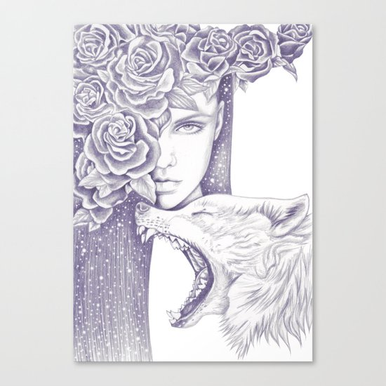 Night Of The Wolf Canvas Print