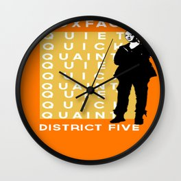 Foxface District Five Wall Clock