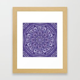 Great Purple Mandala Framed Art Print