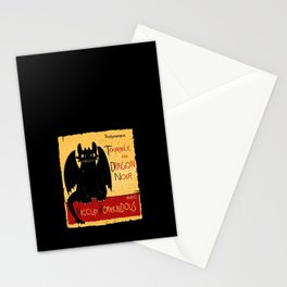 Dragon noir Stationery Cards