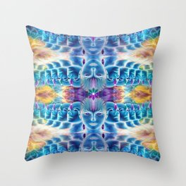 Parallel visions Throw Pillow