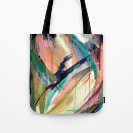 Brave -  a colorful acrylic and oil painting Tote Bag