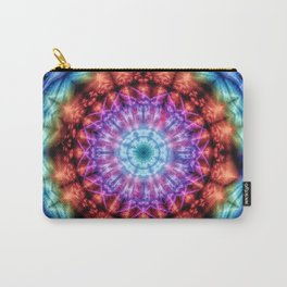Plasmagoria - Kaleidoscopic Mandala Carry-All Pouch