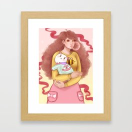 Bee and Puppycat Framed Art Print
