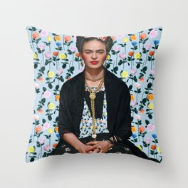 Flowers Frida Kahlo IV Throw Pillow