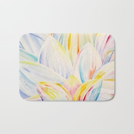Rainbow Lotus Bath Mat